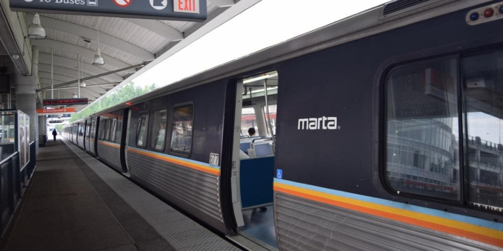 MARTA Train at Station